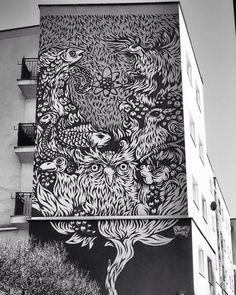 #streetart #art #graffiti #mural #warsaw #warszawa #treeoflife #swanski by beatastokwisz