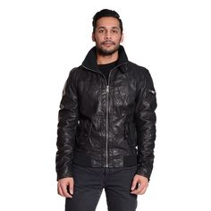 Excelled Men's Bomber with Knit Trim (-Small)
