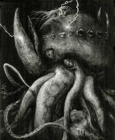 The Dunwich Horror (2008)  by Santiago Caruso  From his illustrated version of Lovecraft's 1928 classic.
