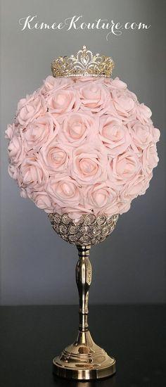 GOLD CROWN Centerpiece. Princess Wedding Centerpiece. TIARA Birthday Party. Princess Birthday. Bridal Shower. Sweet 16. Quincenerea