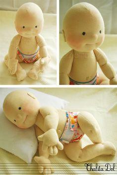 Thalita Dol: bald waldorf doll