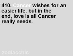Love is all Cancer really needs.