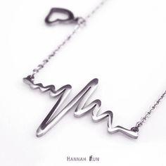 Heartbeat Necklace on Etsy https://www.etsy.com/listing/177148845/sterling-silver-heartbeat-necklace-heart