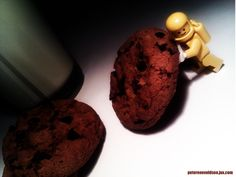 Milk and Cookies for the yellow LEGO astronaut.