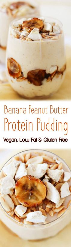 This banana peanut butter protein pudding is vegan, low fat and gluten free- perfect for getting your PB fix.