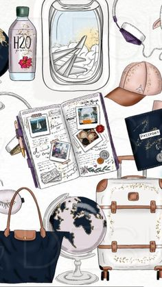 19 Trendy travel design layout vacation scrapbook in 2020 Travel Wallpaper, Photo Wallpaper, Mobile Wallpaper, Iphone Wallpaper Travel, Peach Wallpaper, Screen Wallpaper, Wallpapers Tumblr, Cute Wallpapers, Wallpaper Wallpapers