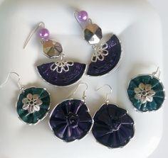 Viola e verde per gli orecchini dalle forme più diverse - fatti con capsule Nespresso