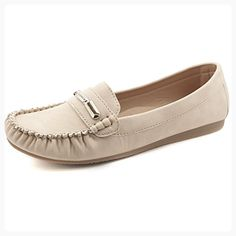 Passionow Womens Fashion Embroidered Slip-on Low Cut Flat Faux Suede Casual Dress Loafer Shoes