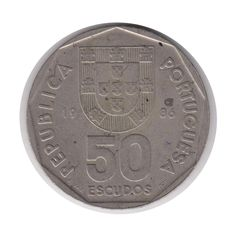 Portugal 50 Escudos 1986 Coin (Code:JMC2188) by COINSnCARDS on Etsy