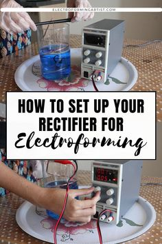 Learn how to set up your rectifier for electroforming with this quick and easy tutorial (Eventek Power Supply) #electroforming #electroformingjewelry #copperelectroforming #electroformingtutorial Electroforming Jewelry, Wire Wrapping Crystals, Step By Step Instructions, Promotion, Copper, About Me Blog, Tutorials, Diy Crafts, Posts