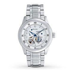 bulova men s stainless steel bracelet watch 38mm 96b015 logos bulova men s watch bva series 120 96a118