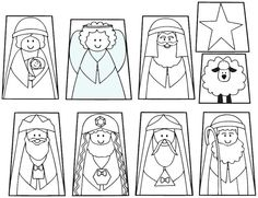 finger puppet templates | Nativity Finger Puppets and Templates