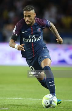 Neymar Jr of PSG during the French Ligue 1 match between Paris Saint Germain (PSG) and Toulouse FC (TFC) at Parc des Princes on August 20, 2017 in Paris, France.