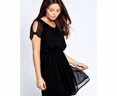 boohoo Sophie Chiffon Tea Dress - black azz25959 Nineties revival reigns supreme with the spaghetti-strap slip dress stealing the what's hot top spot. Feminine, floaty fabrics and floral prints are our fave, with midi lengths a must-have. Go boho in http://www.comparestoreprices.co.uk/dresses/boohoo-sophie-chiffon-tea-dress--black-azz25959.asp