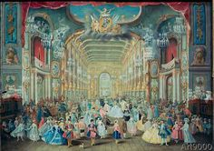 Franz Rousseau - Masked ball in the Bonn court theatre under Elector Clemens August of Cologne in 1754