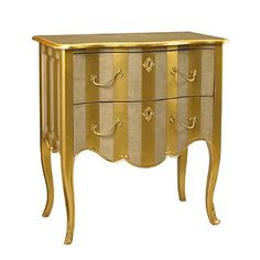 Fontenay Commode/Chest in Stripe Dove and Gold