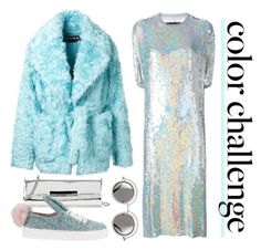 """""""Rock This Look: Blue and Silver"""" by emavera ❤ liked on Polyvore featuring Filles à papa, Rochas and Minna Parikka"""
