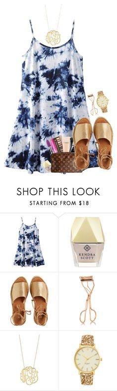 """""""my pretty little Galway girl.."""" by simplysarahkate ❤ liked on Polyvore featuring Kendra Scott, Kaanas, Charlotte Tilbury, Ginette NY and Kate Spade"""