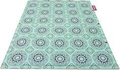 Tapis The Flying Carpet Outdoor / Pour l'extérieur - 180 x 140 cm Casablanca turquoise - Fatboy - Décoration et mobilier design avec Made in Design