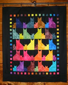 Mama & Her Kitten Quilt Kit with Hand Dyed by HandDyedFabrics