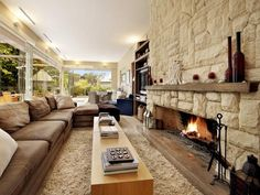 Love the fire place.
