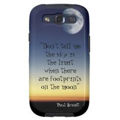 Paul Brandt quote moon sunset design Samsung Galaxy S3 case