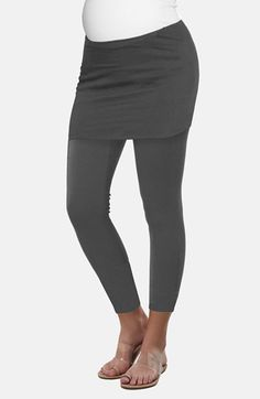 "THE URBAN MA URBANMA SKIRTED Maternity LEGGINGS. PRICE: $38. Colour: CHARCOAL. Sizes: Maternity (L,M,S,X-L,X-S). DETAILS: A modern LAYERED-Look comes together in one EASY, SMOOTH-fitting piece with a SHORT-Skirt attached to stretchy LEGGINGS. A COMFORTABLE style to wear before and after BABY arrives. 27"" inseam; Rayon/Spandex 96/4%; HAND wash cold, dry flat; imported. MORE via: http://sd4shila.creativesolutionstore.com OR http://sd4shila.blogspot.co.uk/2014/01/amazon-fashion.html"