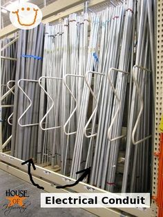 Long curtain rods - Spray paint these babies and you have curtain rods for $2