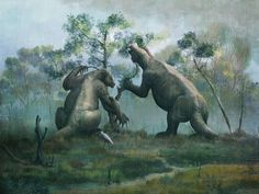 Prehistoric Animals, Crystal Palace, Free Prints, Sloth, Fossil, Painting, Extinct, Posts, Times