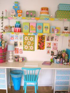 Organized craft sewing studio by PinkFriday, via Flickr