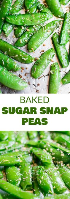 Roasted Sugar Snap Peas Recipe - How to Cook Peas! HEALTHY Baked Sugar Snap Peas are easy to make and ready in 8 minutes! Sprinkle with garlic, thyme and salt for a healthy snack! Adults and kids both love this easy delicious pea recipe! Pea Recipes, Side Dish Recipes, Vegetable Recipes, Vegetarian Recipes, Cooking Recipes, Healthy Recipes, Healthy Snacks Vegetarian, Healthy Meals, Healthy Snacks For Adults