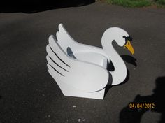 Swan Planter by tomscraftcastle on Etsy, $45.00