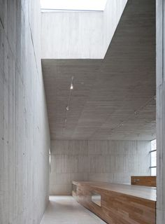 Interior of the Easter Sculpture Museum by Exit Architects.