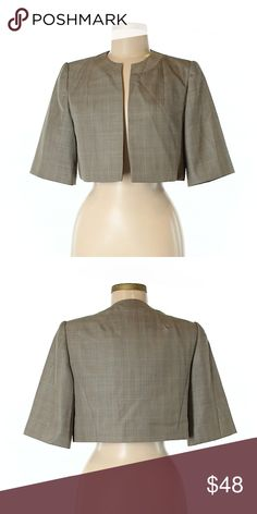 🎉 Host Pick🎉Kalvin Klein Jacket 6 Tan Checkered pattern 87% Polyester, 13% Rayon Excellent condition like new Calvin Klein Jackets & Coats