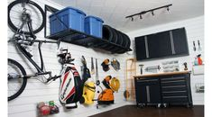 As the seasons change, so does what you store in your garage. If you're struggling to organize your garage, talk to us about what Proslat has to offer! Garage Organization, Garage Storage, Garage Walls, Garage Doors, White Wall Paneling, Ultimate Garage, Traditional Market, Diy Garage, Garage Ideas