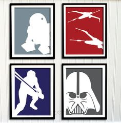 Cute Nursery Idea...  Star Wars Print Set  Boys Nursery or Room Boys by PrintChicks, $60.00