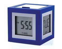 Lexon cubissimo #alarm clock lcd #display with 4 faces in 8 vibrant #colours new ,  View more on the LINK: http://www.zeppy.io/product/gb/2/262126305854/
