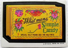 What mans Simple Candy | OldBrochures.com