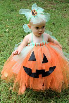 5e44948dd6f2 Cutest Punkin' in Town, Halloween Pumpkin Tutu Costume on Etsy, $40.00 Baby  Pumpkin