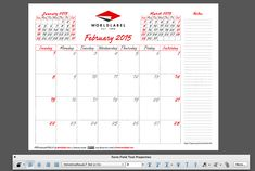 Check out our FREE Editable Fillable Printable PDF 2015 Calendar Pro: http://blog.worldlabel.com/2014/2015-editable-fillable-pdf-calendar-template-from-worldlabel.html
