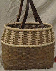 The Vertical Tote - BasketWeavingSupplies.com