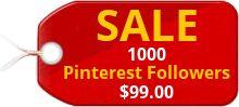 1000 Worldwide Pinterest Followers Sale 99.00