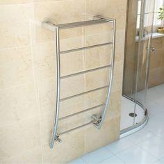 Chrome Curved Heated Towel Rail 1200 x 600