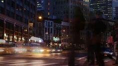 NYC Traffic Time Lapse Night New York Skyline, Times Square, Street View, Nyc, Night, Travel, Presentation, Free, Viajes