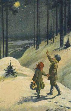 Fint julkort av Jenny Nyström.