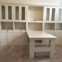 Select your wood. Select your size. Select your molding. Customize with doors and drawers. Made in Texas of 100% oak, maple, or pine.