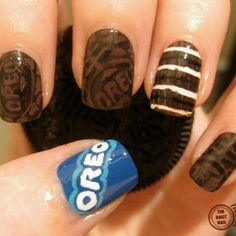 OREO nails! -I doubt I could ever do that myself, but dang those are cute! ~Z