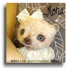 """""""Mona"""", from handmade mohair teddy bear artist Denise Purrington"""