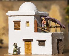Casa en el pueblo de Belén   Bricolaje Diy Nativity, Christmas Nativity Scene, Christmas Villages, Nativity Scenes, Diy Arts And Crafts, Home Crafts, Medieval Houses, Southwestern Art, Ceramic Houses