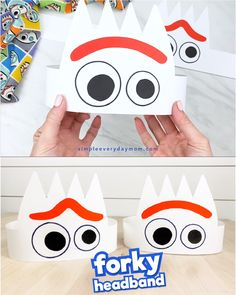 If your kids love Toy Story theyll want to make this Forky the spork headband craft! Its super simple so its great fo Disney Diy, Disney Aladdin, Disney Crafts For Kids, Toddler Crafts, Disney Frozen, Fête Toy Story, Toy Story Crafts, Toy Story Party, Toy Story Food